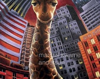 Giraffe 8x11 Print