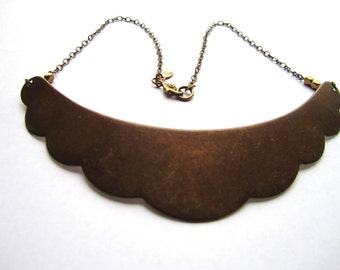 S A L E  scalped necklace