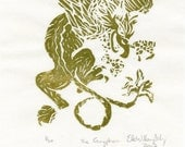The Gryphon linocut- Limited Edition