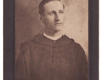 Antique Portrait of student or priest 1902 St Johns Minnesota