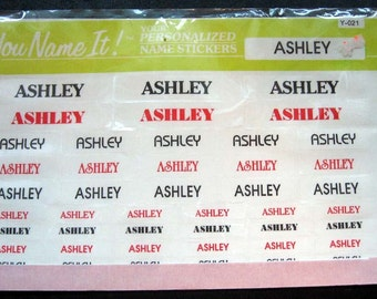 Vintage Name Stickers - Ashley - Brand New in Package - good stocking stuffer