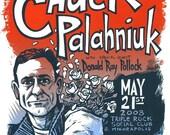 Chuck Palahniuk limited edition screenprinted poster
