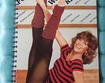 SALE - Jane Fonda Workout Recycled Record Album Journal Notebook