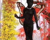 Persephone in Forest Collage Art Note Card - Blank - 3 1/2 x 5 inches