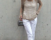 SUMMER LOVIN cotton, loose knit, open weave, iLE AiYE sweater. 1 -2 left in this shade
