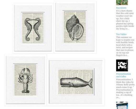 Nautical prints, Four