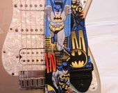 batman comic guitar strap