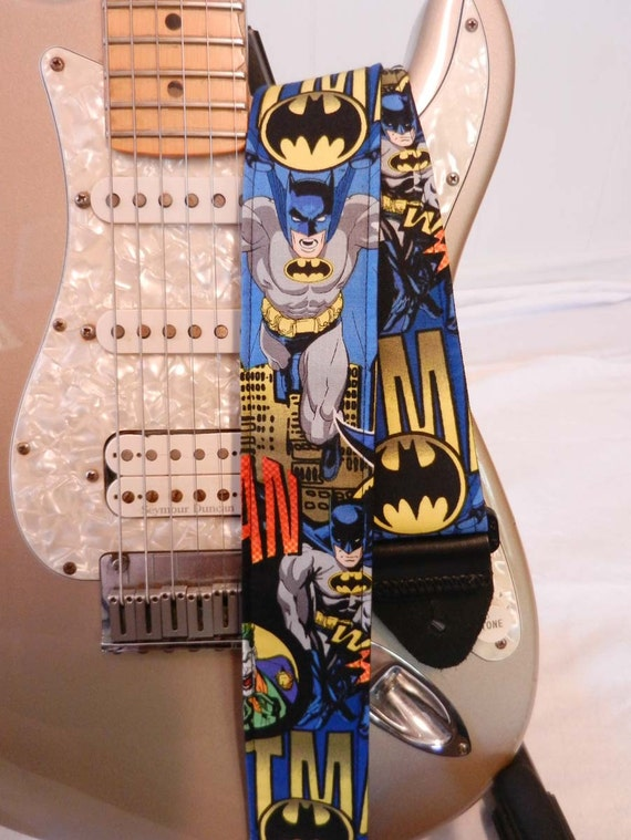 batman comic guitar strap