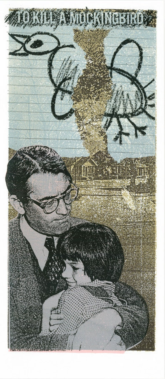 To Kill A Mockingbird Movie / Book  Original Screen Print by Print Mafia