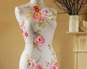 Display Mannequin Pretty Vintage Floral Print Dressform Bust - Amelia