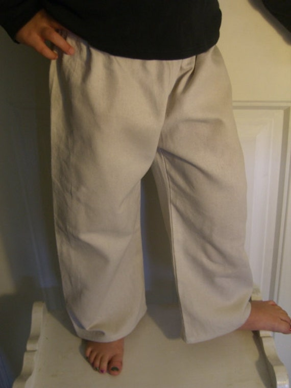 Reserved for Jenny - 3 Pants Linen- Look Girls or Boys -Natural