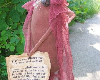Devil 128e Halloween Primitive  doll Crows Roost Prims ePattern immediate download