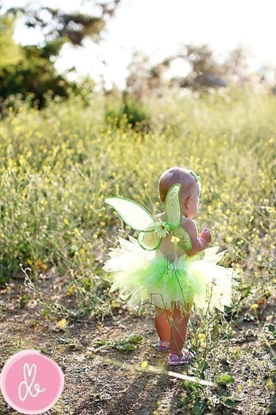 newborn baby toddler sizes tutu only green tinkerbell style halloween costume pixie newborn up to 12