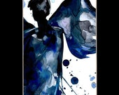 """Angel Watercolor Painting, Abstract Art,  """"Angel 12""""  Original in mat similar to the one featured in West Elm by Kathy Morton Stanion EBSQ"""