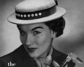 The Sailor, Vintage Crochet Hat Pattern - circa 1940 - PDF ebook
