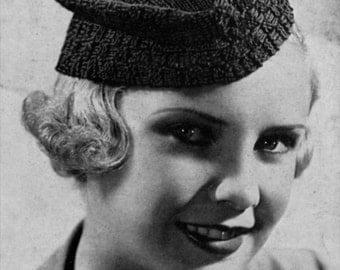 Scotch Beret - Vintage 1930s Knitting Hat Pattern