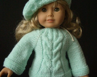 Beginner level Knitting PATTERN for American Girl 18 inch DOLL with VIDEO (029)
