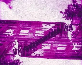 Fire Escape Double Exposure Lomography Photograph