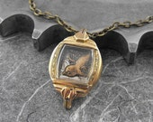 Steampunk Bird Brass Necklace - Window On the Nature of Flight by COGnitive Creations