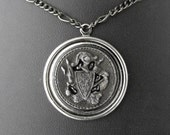 Coat of Arms Necklace - The Knight's Valor by COGnitive Creations
