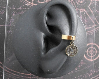 Chinese Coin Golden Ear Cuff - The Lucky Golden Coin by COGnitive Creations