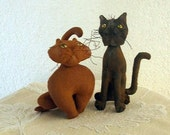 Primitive E- Pattern Folk Art  Little Cat  Doll Decorations