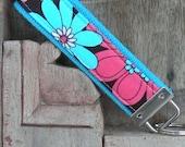 READY TO SHIP-Beautiful Key Fob/Keychain/Wristlet-Britt on Turq