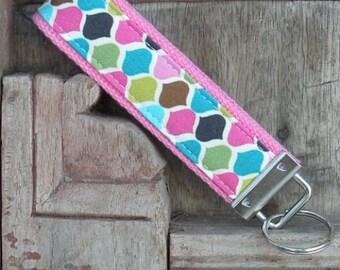 READY TO SHIP-Beautiful Key Fob/Keychain/Wristlet-Diamonds on Pink