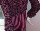Chic GEOFFREY BEENE Saks Fifth Avenue Textured Silk Dress - Size 8