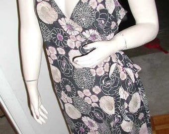 Clearance:  Betty Page PIN UP Girl Inspired BCBG Max Azria Wrap Dress with Panties - Size L