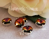 Volcano Rivoli Sew On Swarovski Crystal 12mm 1122 With Prong Setting Crystal Sew On Craft Supplies Jewelry Making