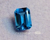 Swiss Blue Topaz, Genuine AAA 10 X 14 Faceted Swiss Blue Topaz, Emerald Cut Octagon, Loose Gemstone, November Birthstone,  Jewelry Supply