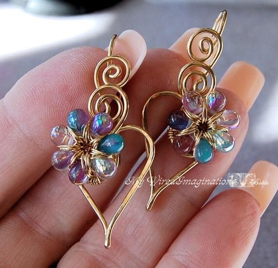 wire jewelry tutorial charming hearts 2 earrings pdf