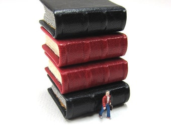 Miniature  Black Leather Book