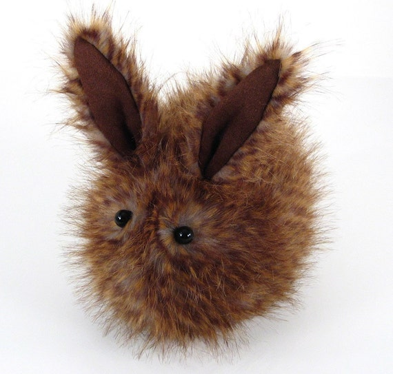 Stuffed Toy Cute Brown Hoppy the Rabbit Faux Fur Plushie Momma Size