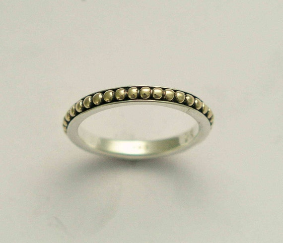 thin band simple band sterling silver gold ring by artisanlook