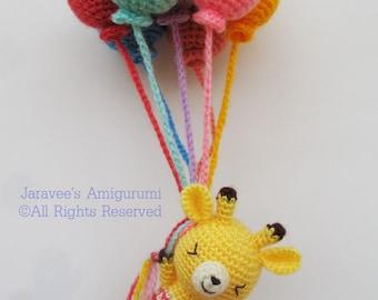 Giraffe and balloons - PDF Crochet Pattern