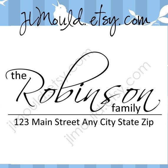 Personalized Family Custom Return Address Clear Rubber Stamp 0009 (clear stamp)