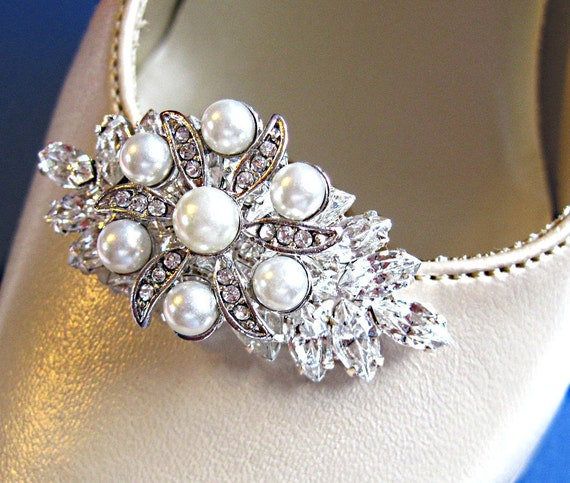wedding shoe clips pearl bridal shoe jewelry wedding clips for