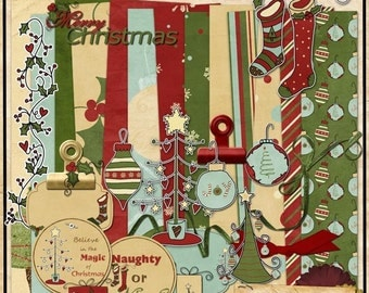 Naughty or Nice Digital Scrapbook Kit DOWNLOADABLE ONLY
