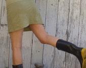 ORGANIC Simplicity Mini Skort - ( light hemp and organic cotton knit ) - organic HEMP skirt