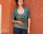 ORGANIC Super Cowl Simplicity Shirt (locally milled organic tissue cotton) - organic shirt