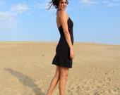 Halter Short Dress (light stretch hemp)