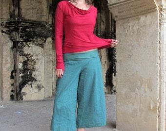 Organic Anoki Gauchos - ( Woven Hemp ) - organic gauchos :