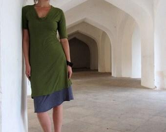 ORGANIC Hampi Simplicity Short Dress ( organic tissue cotton ) - organic dress