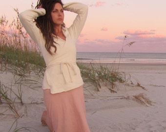 Organic Hooded Wrap Fleece Shirt ( hemp and organic cotton fleece) - organic shirt