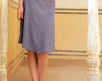 ORGANIC Simplicity Below Knee Skirt (light hemp/organic cotton knit) - organic skirt