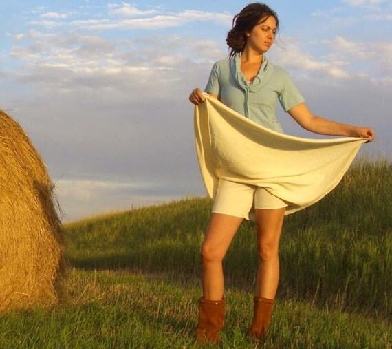 ORGANIC Simplicity Long Skort (light hemp/organic cotton knit) - organic skort