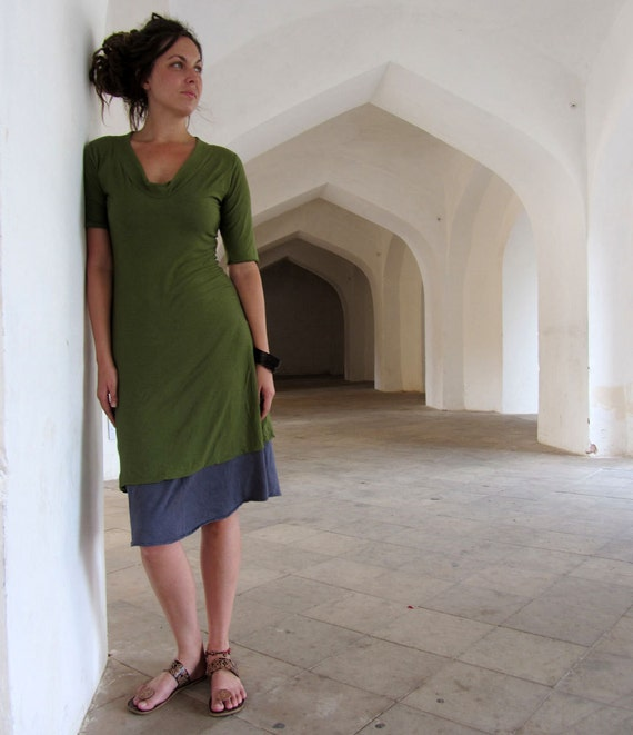 ORGANIC Hampi Simplicity Short Dress ( organic tissue cotton ) - organic dress