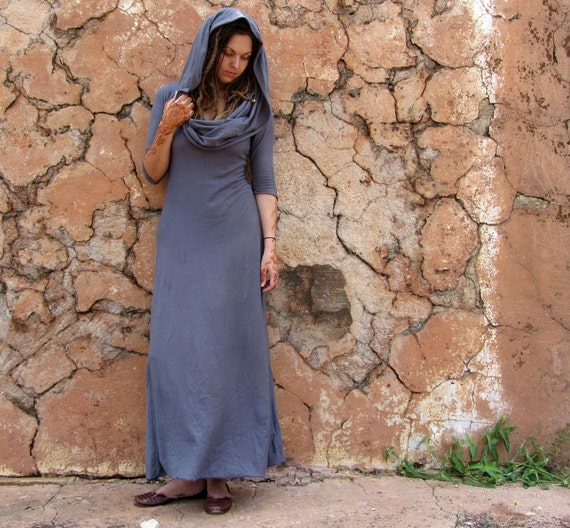 ORGANIC Super Cowl Simplicity Long Dress (organic tissue cotton) - organic dress